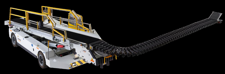 Power Stow Rollertrack Conveyor mounted on TLD belt loader