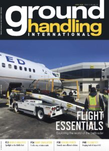 Ground Handling International magazine features Power Stow belt loader on the cover of its April issue